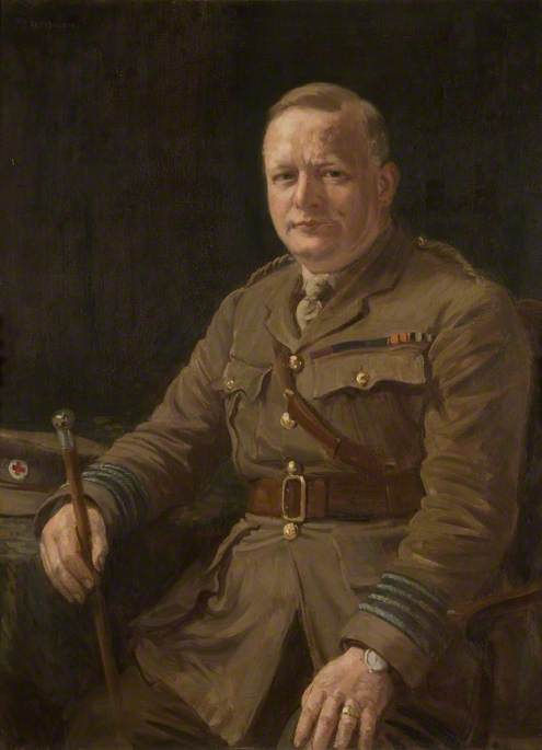 Wikioo.org - The Encyclopedia of Fine Arts - Painting, Artwork by John J Alsop - Harvey Reeves, Honorary County Secretary of the Northamptonshire Red Cross Committee