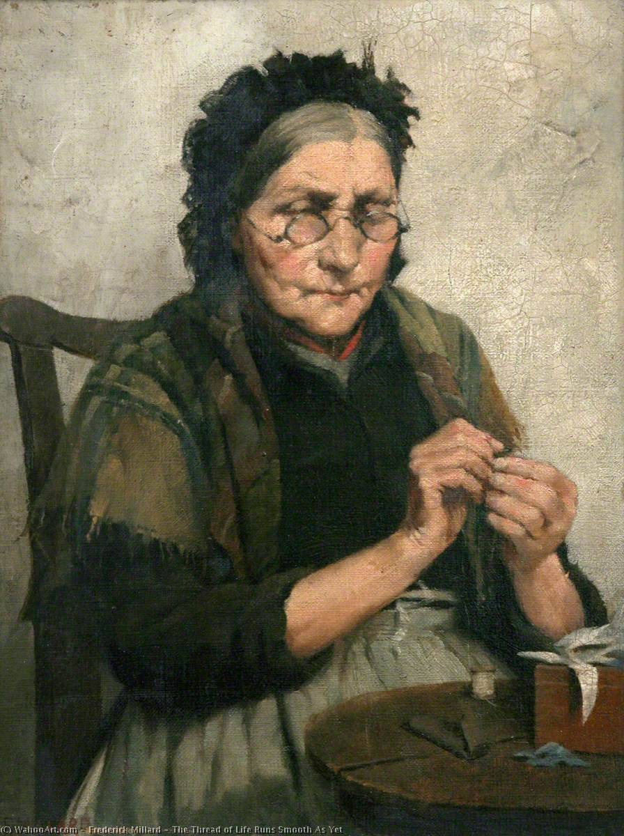 Wikioo.org - The Encyclopedia of Fine Arts - Painting, Artwork by Frederick Millard - The Thread of Life Runs Smooth As Yet