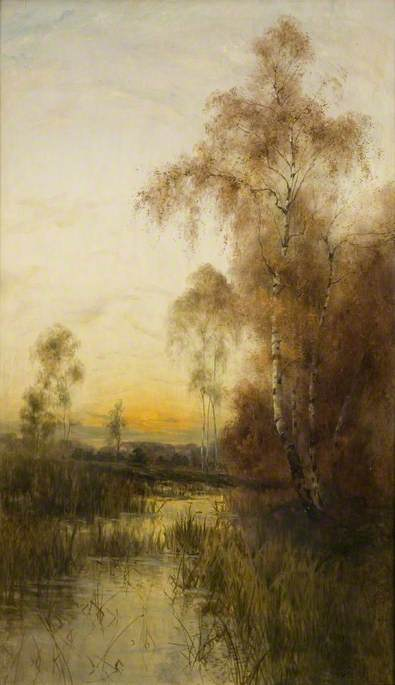 Wikioo.org - The Encyclopedia of Fine Arts - Painting, Artwork by Albert Edward Bailey - Silver Birches