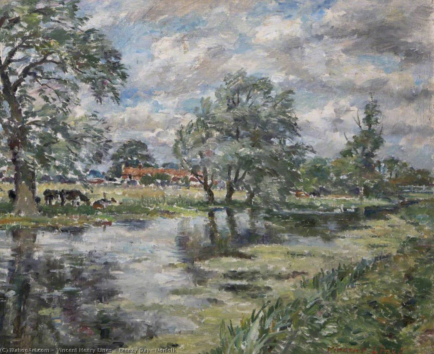 Wikioo.org - The Encyclopedia of Fine Arts - Painting, Artwork by Vincent Henry Lines - Breezy Day, Norfolk