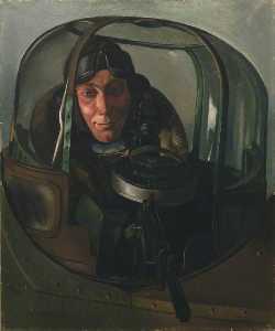 An Air Gunner in a Gun Turret Sergeant G. Holmes, DFM