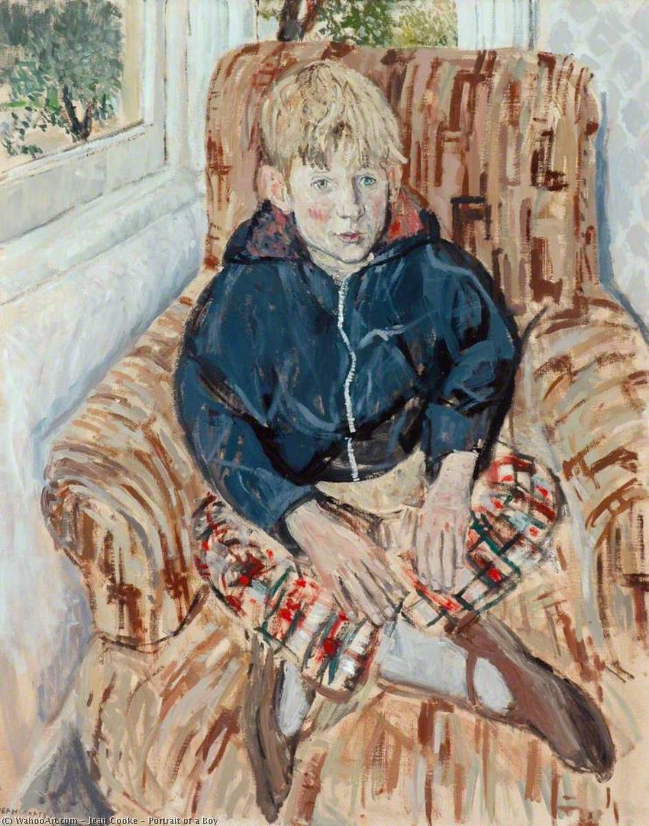 Wikioo.org - The Encyclopedia of Fine Arts - Painting, Artwork by Jean Cooke - Portrait of a Boy