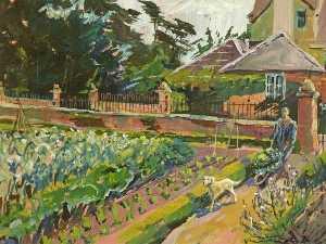 Kitchen Garden, Whitminster House, Gloucestershire