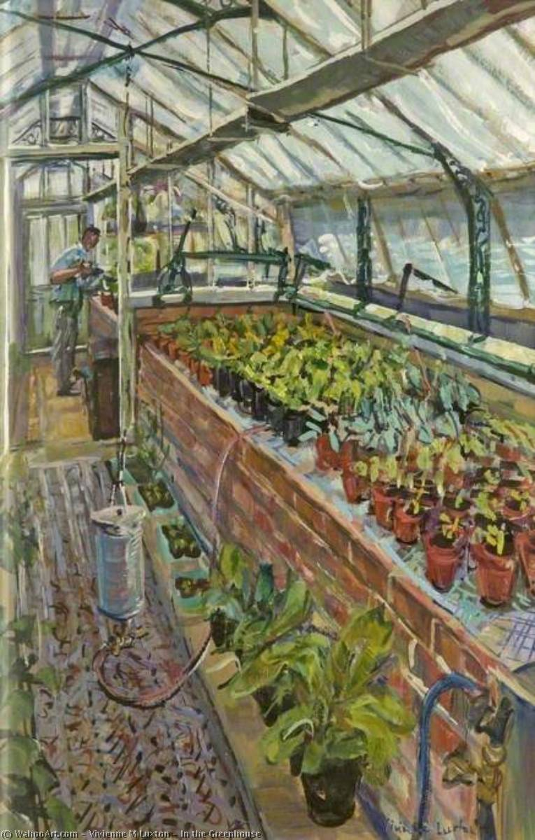 Wikioo.org - The Encyclopedia of Fine Arts - Painting, Artwork by Vivienne M Luxton - In the Greenhouse