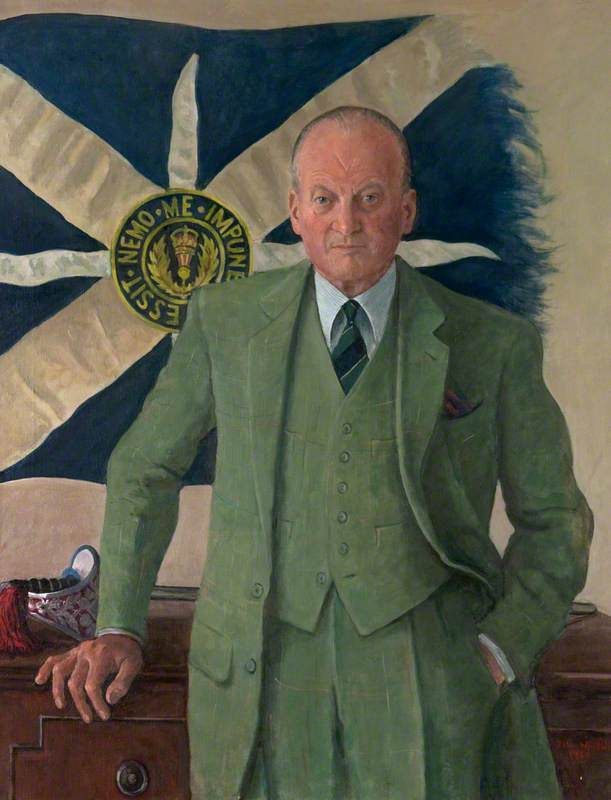 Wikioo.org - The Encyclopedia of Fine Arts - Painting, Artwork by John Whittall - Lieutenant Colonel Mike Evetts (1917–2001), MC