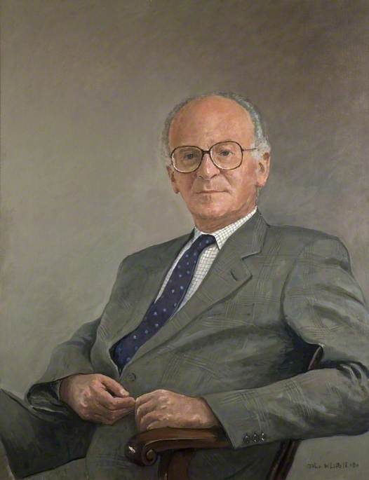 Wikioo.org - The Encyclopedia of Fine Arts - Painting, Artwork by John Whittall - Sidney Melman, JP, Chairman of Letchworth Garden City Corporation (1978–1990)