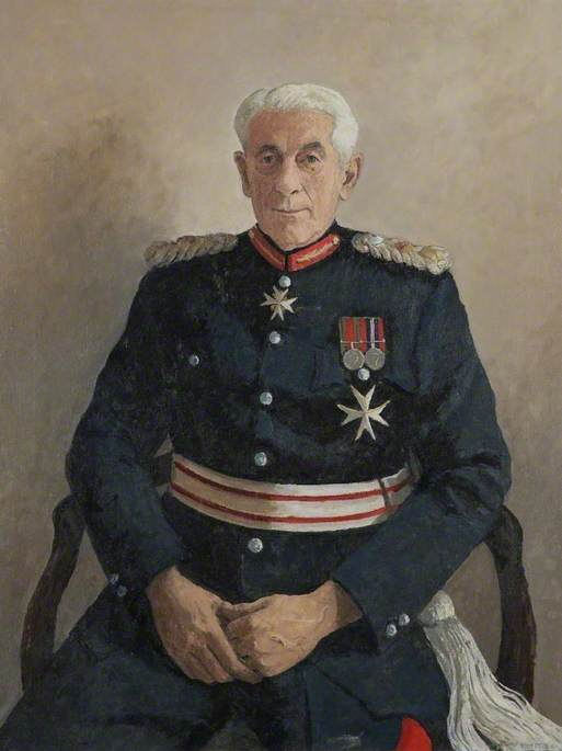 Wikioo.org - The Encyclopedia of Fine Arts - Painting, Artwork by John Whittall - Colonel John Francis Maclean, Lord Lieutenant of Herefordshire (1960–1974)