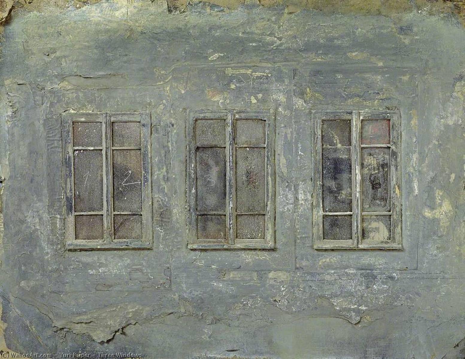 Wikioo.org - The Encyclopedia of Fine Arts - Painting, Artwork by Yuri Kuper - Three Windows