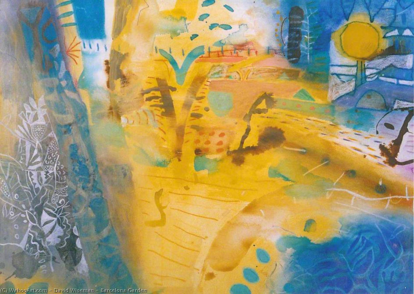 Wikioo.org - The Encyclopedia of Fine Arts - Painting, Artwork by David Wiseman - Barcelona Garden