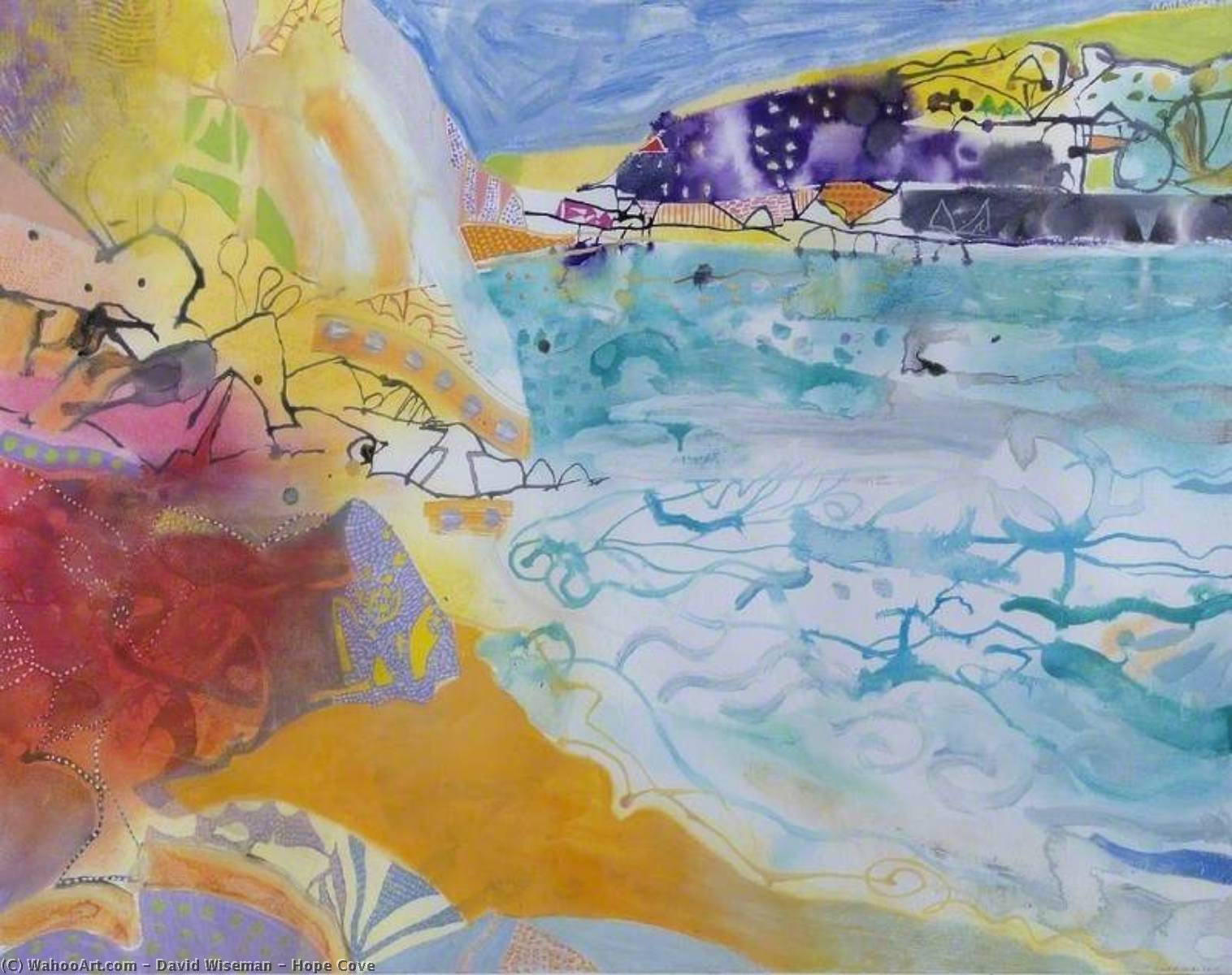 Wikioo.org - The Encyclopedia of Fine Arts - Painting, Artwork by David Wiseman - Hope Cove
