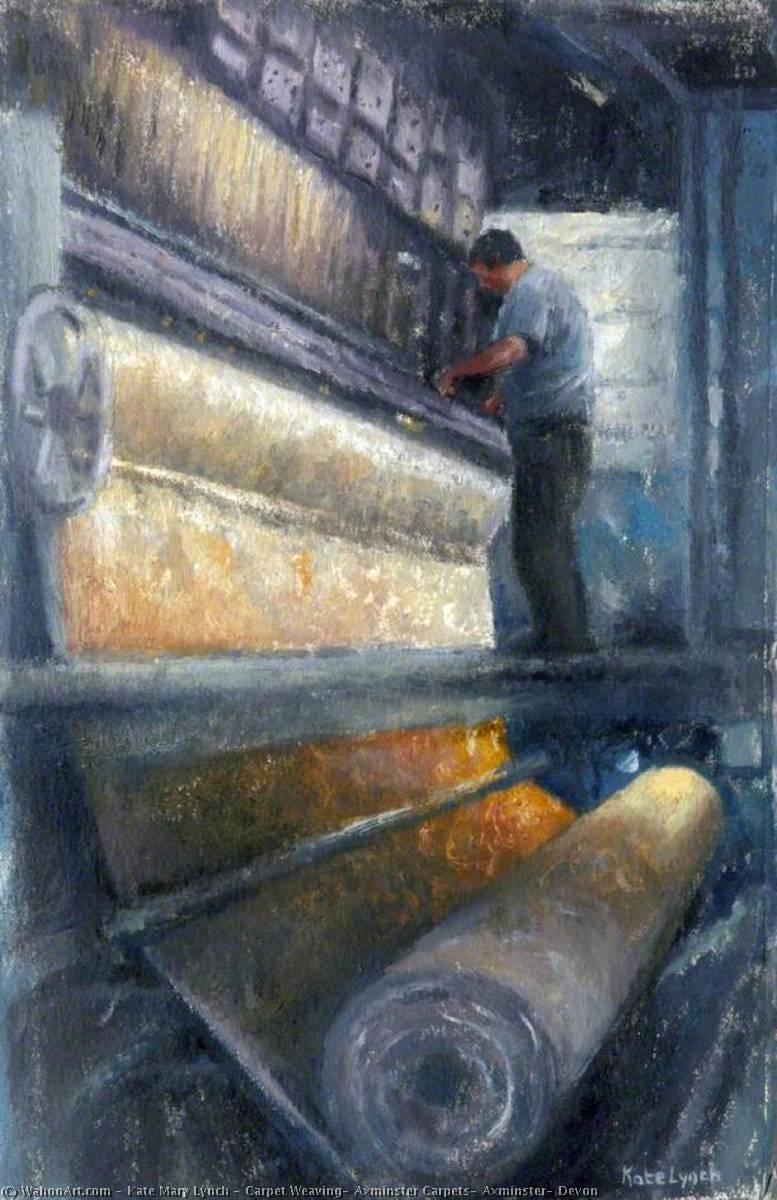 Wikioo.org - The Encyclopedia of Fine Arts - Painting, Artwork by Kate Mary Lynch - Carpet Weaving, Axminster Carpets, Axminster, Devon