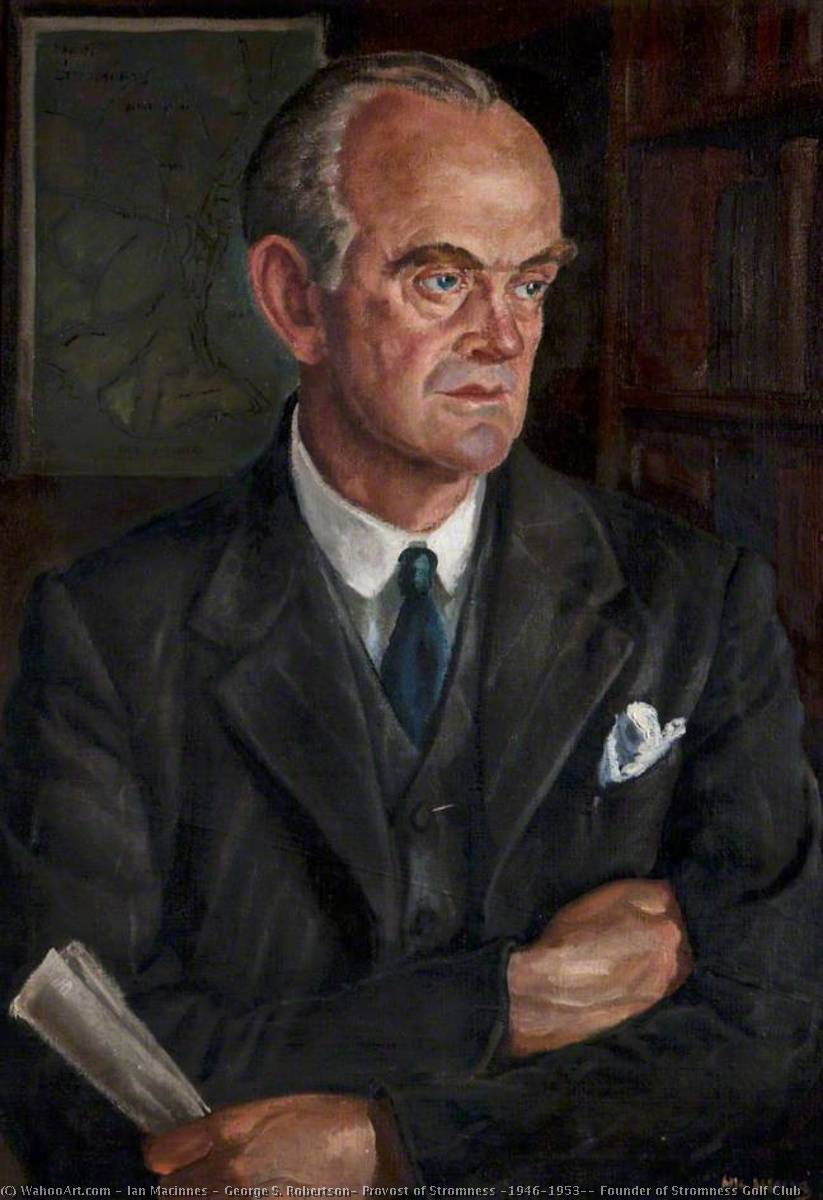 Wikioo.org - The Encyclopedia of Fine Arts - Painting, Artwork by Ian Macinnes - George S. Robertson, Provost of Stromness (1946–1953), Founder of Stromness Golf Club