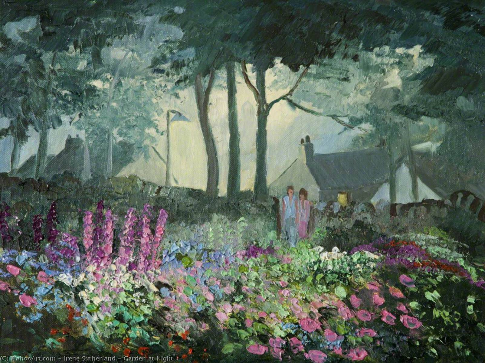 Wikioo.org - The Encyclopedia of Fine Arts - Painting, Artwork by Irene Sutherland - Garden at Night