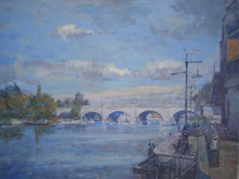 Wikioo.org - The Encyclopedia of Fine Arts - Painting, Artwork by Christopher Glanville - Kingston Bridge from Charter Quay