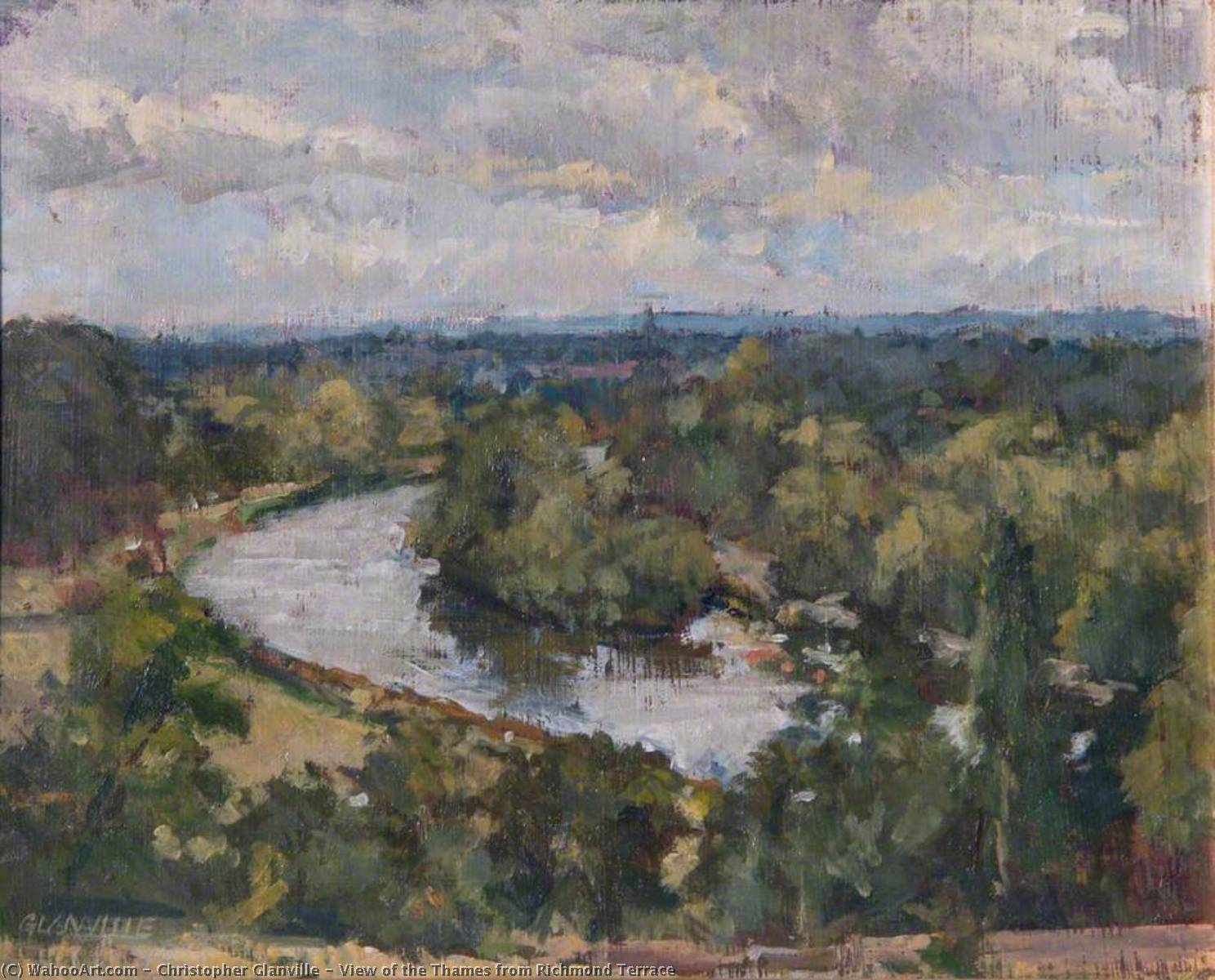 Wikioo.org - The Encyclopedia of Fine Arts - Painting, Artwork by Christopher Glanville - View of the Thames from Richmond Terrace