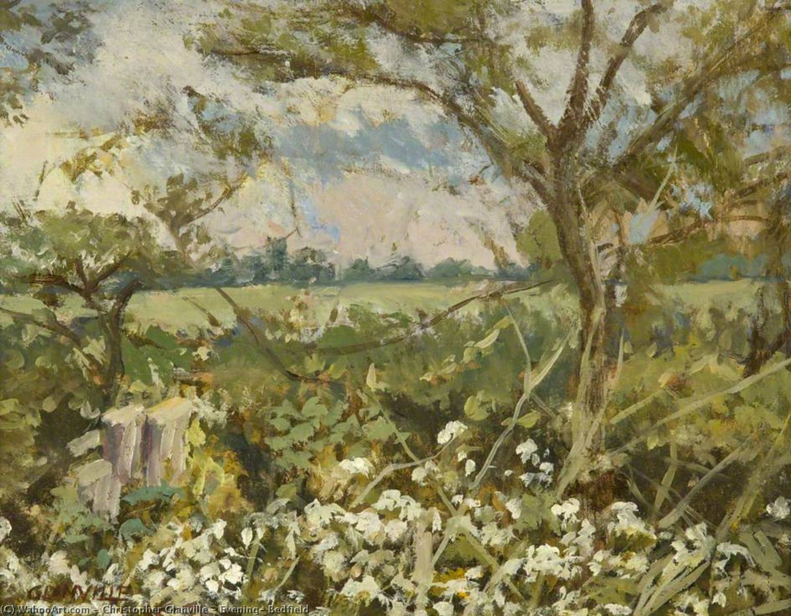 Wikioo.org - The Encyclopedia of Fine Arts - Painting, Artwork by Christopher Glanville - Evening, Bedfield