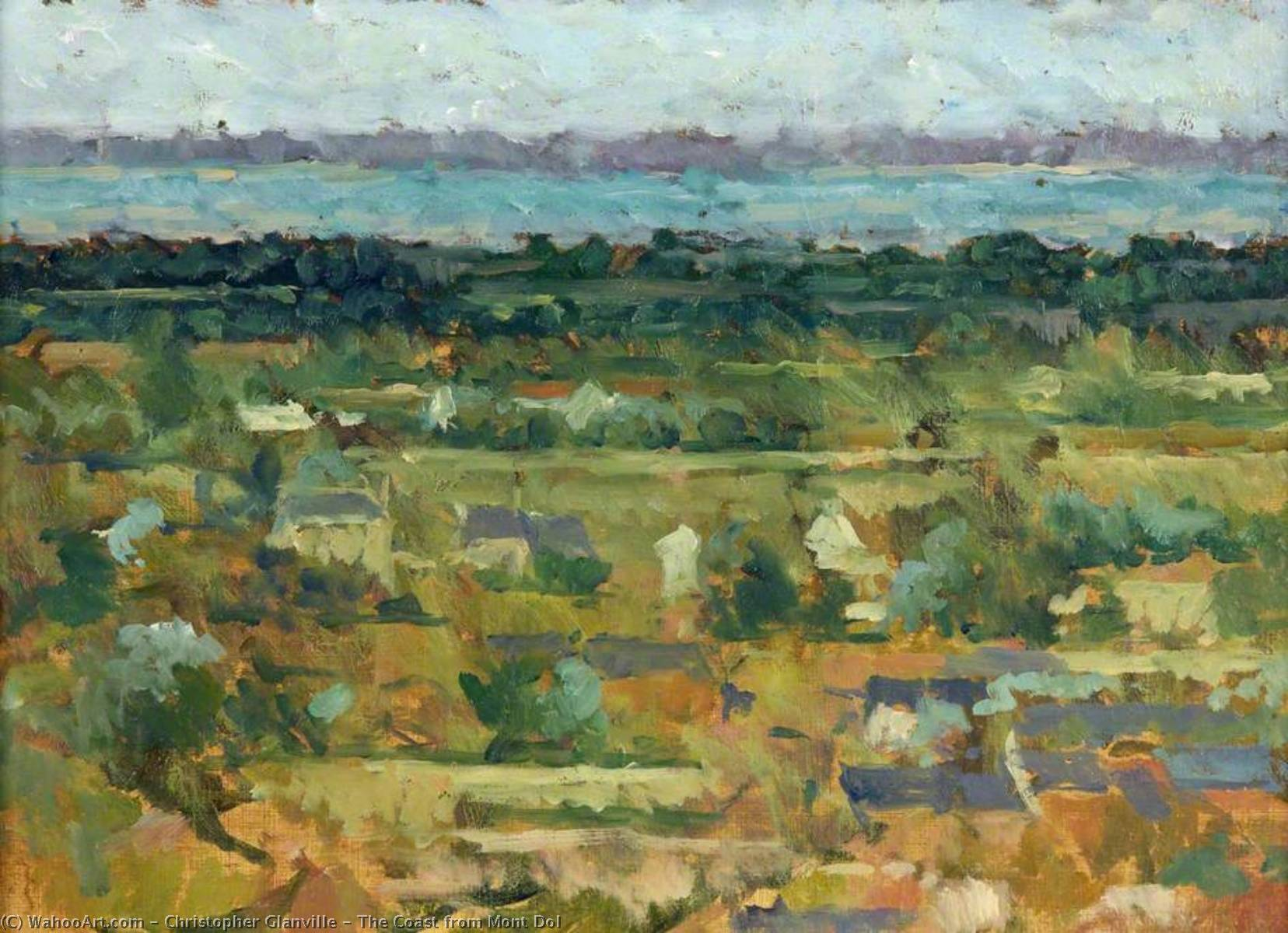 Wikioo.org - The Encyclopedia of Fine Arts - Painting, Artwork by Christopher Glanville - The Coast from Mont Dol
