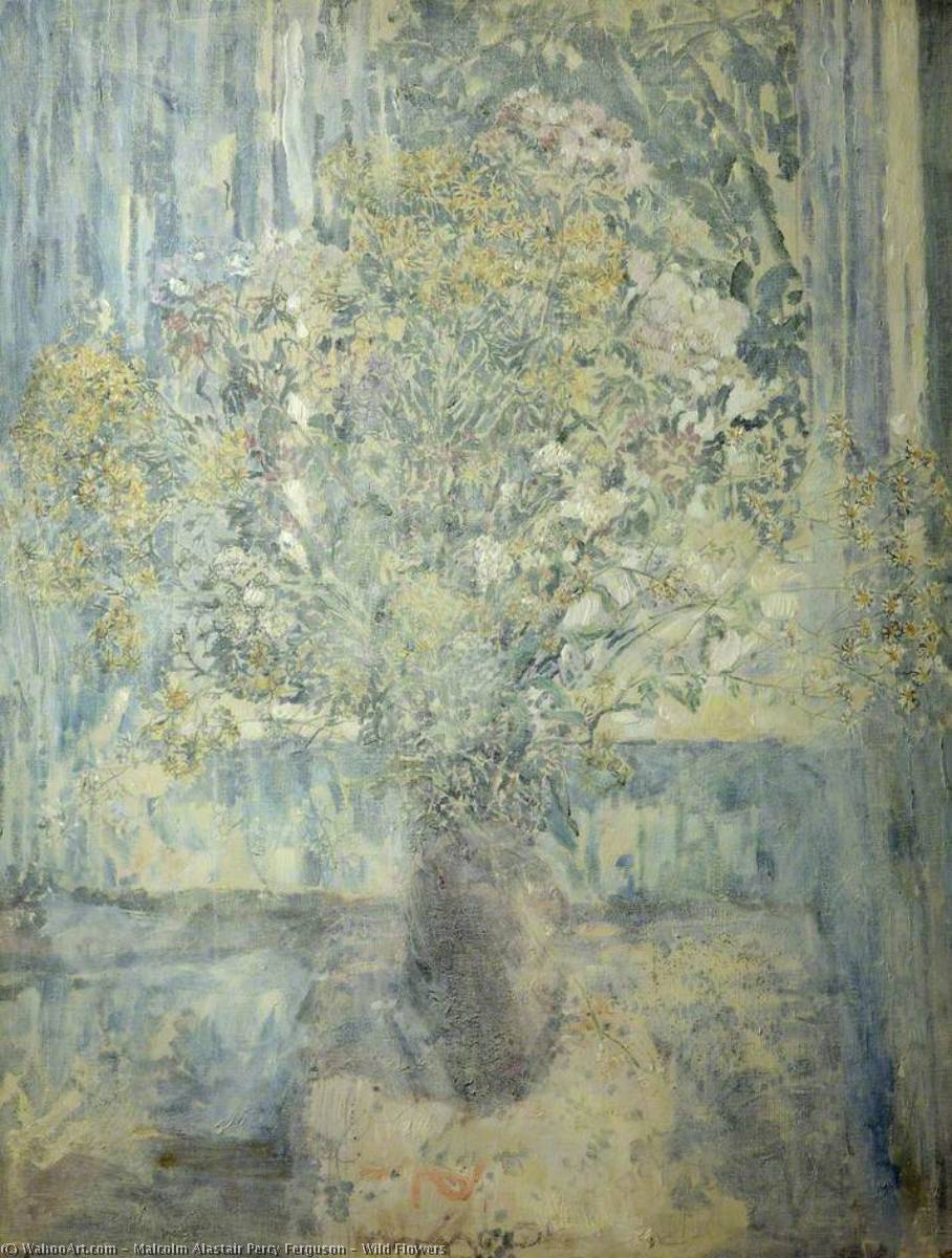 Wikioo.org - The Encyclopedia of Fine Arts - Painting, Artwork by Malcolm Alastair Percy Ferguson - Wild Flowers