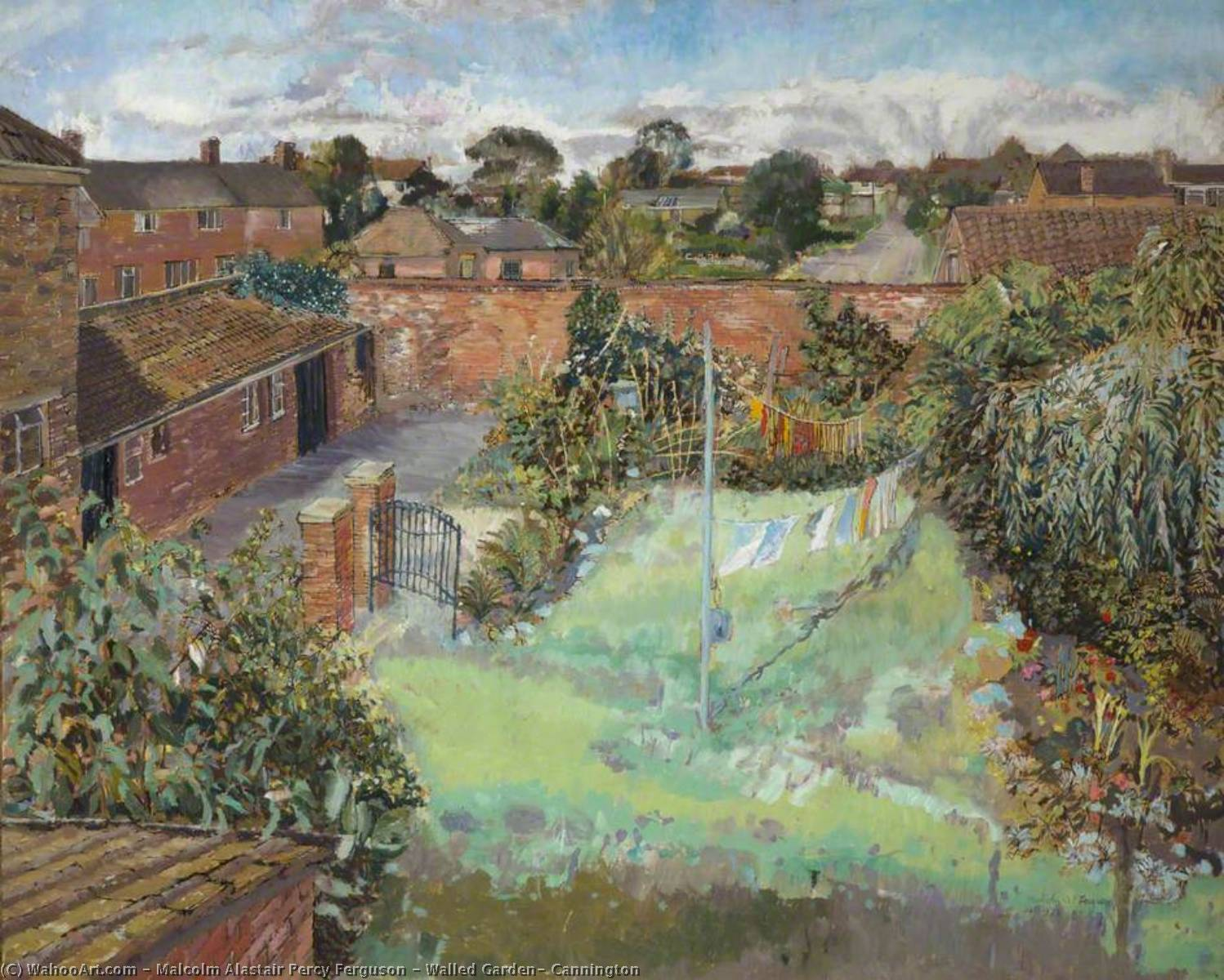 Wikioo.org - The Encyclopedia of Fine Arts - Painting, Artwork by Malcolm Alastair Percy Ferguson - Walled Garden, Cannington
