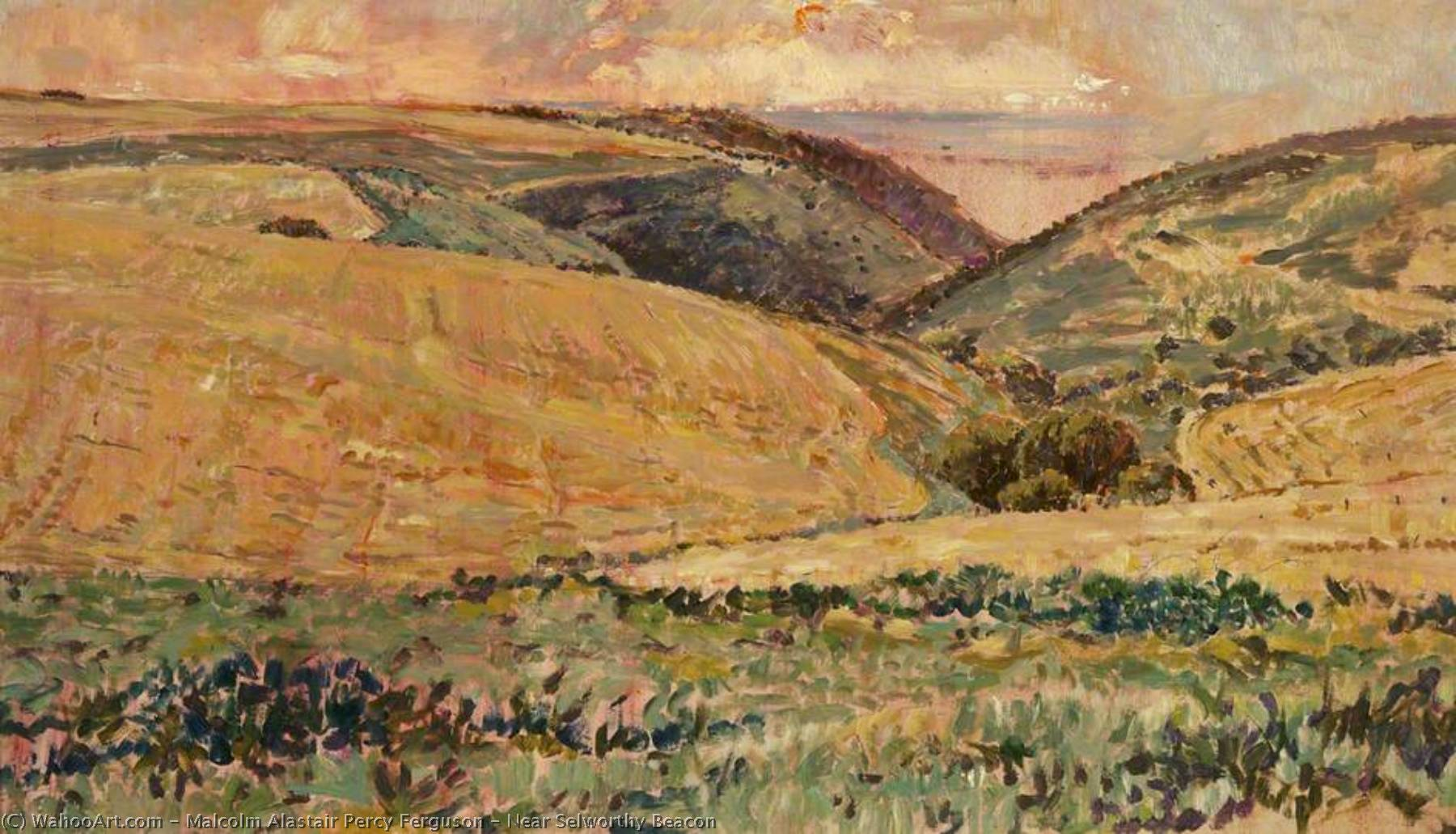 Wikioo.org - The Encyclopedia of Fine Arts - Painting, Artwork by Malcolm Alastair Percy Ferguson - Near Selworthy Beacon