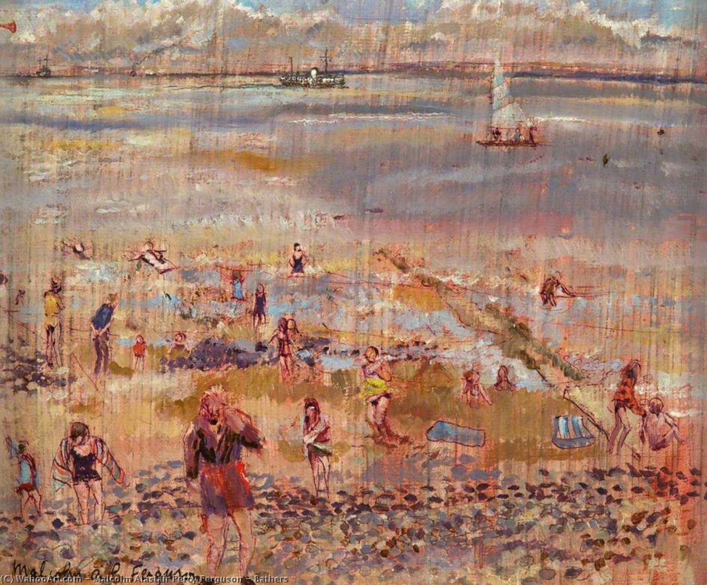 Wikioo.org - The Encyclopedia of Fine Arts - Painting, Artwork by Malcolm Alastair Percy Ferguson - Bathers