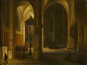 Interior of St Bavo, Haarlem