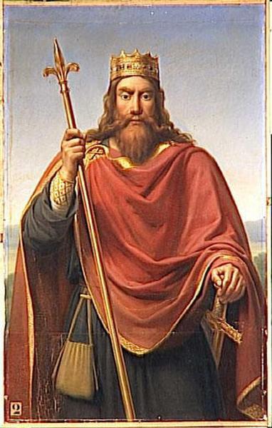 Wikioo.org - The Encyclopedia of Fine Arts - Painting, Artwork by Dejuinne François Louis - CLOVIS 1ER, ROI DES FRANCS (465 511)