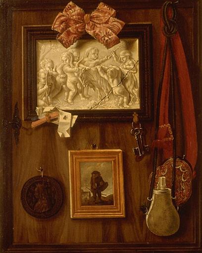 Wikioo.org - The Encyclopedia of Fine Arts - Painting, Artwork by Valette Penot Jean - TROMPE L'OEIL A LA MEDAILLE D'ANNE DE BRETAGNE