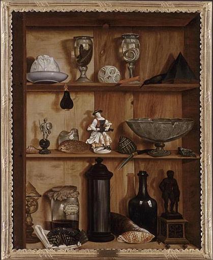 Wikioo.org - The Encyclopedia of Fine Arts - Painting, Artwork by Valette Penot Jean - TROMPE L'OEIL A LA STATUETTE D'HERCULE