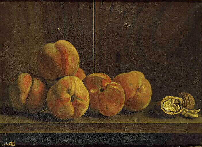 Wikioo.org - The Encyclopedia of Fine Arts - Painting, Artwork by Valette Penot Jean - Pêches et noix