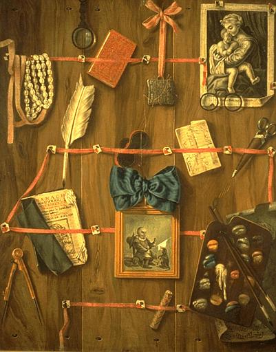Wikioo.org - The Encyclopedia of Fine Arts - Painting, Artwork by Valette Penot Jean - TROMPE L'OEIL A LA GRAVURE DE SARRABAT