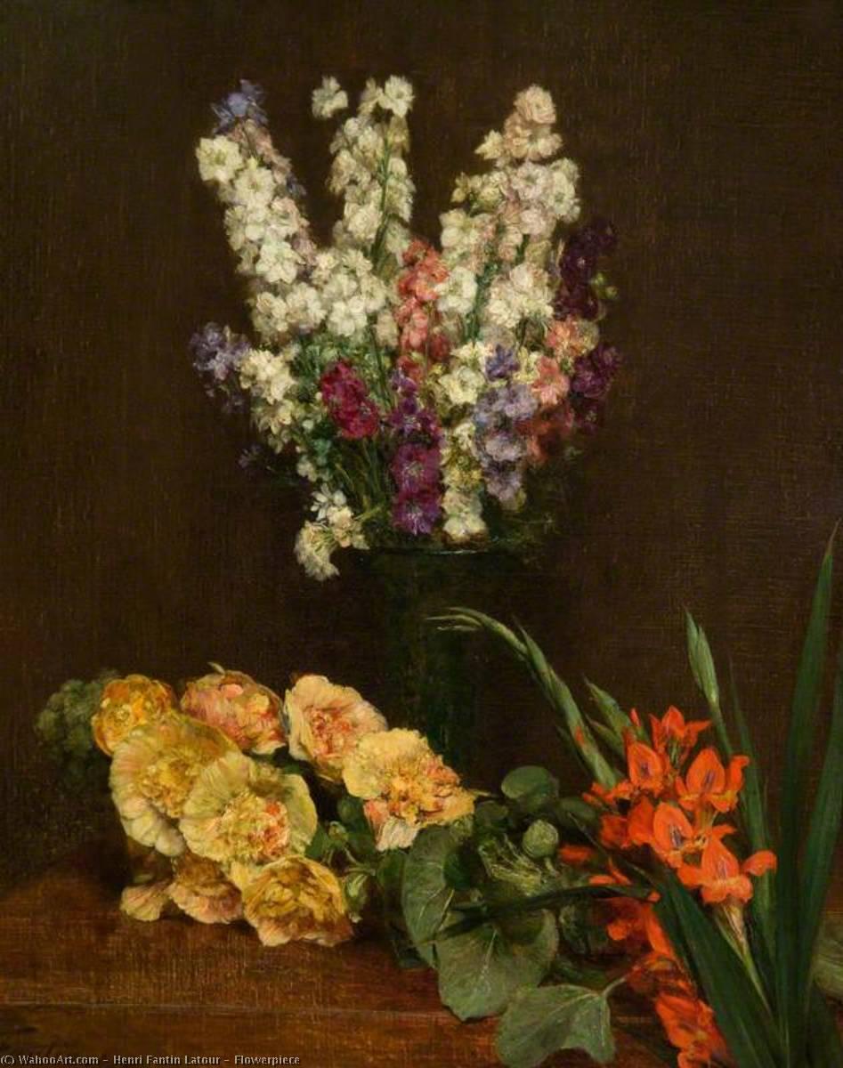 Wikioo.org - The Encyclopedia of Fine Arts - Painting, Artwork by Henri Fantin Latour - Flowerpiece