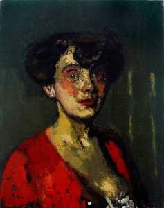 Head of a Woman (The Belgian Cocotte)