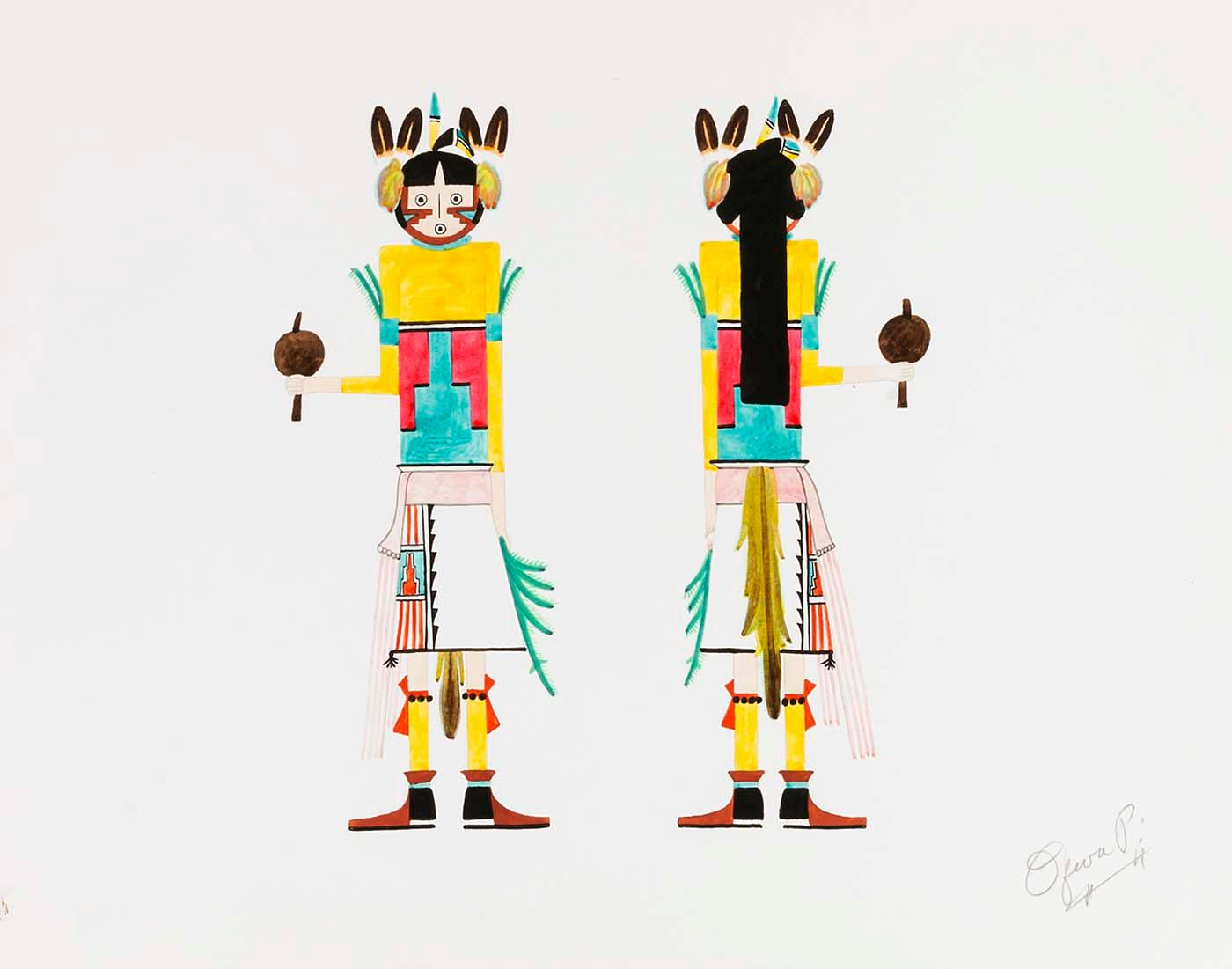 Wikioo.org - The Encyclopedia of Fine Arts - Painting, Artwork by Oqwa Pi - Dancer