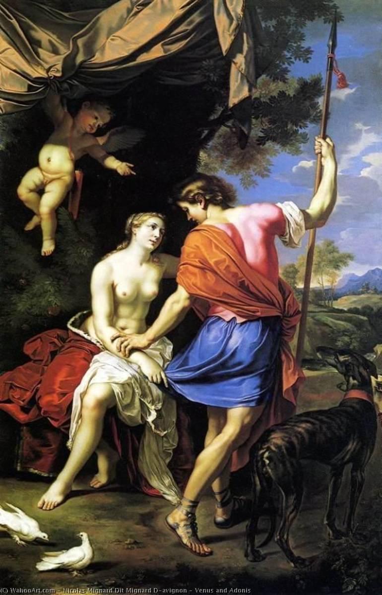 Wikioo.org - The Encyclopedia of Fine Arts - Painting, Artwork by Nicolas Mignard Dit Mignard D'avignon - Venus and Adonis