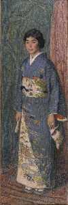 日本語 日本婦人の肖像(黒木夫人) English Portrait of a Japanese Woman (Mrs. Kuroki)