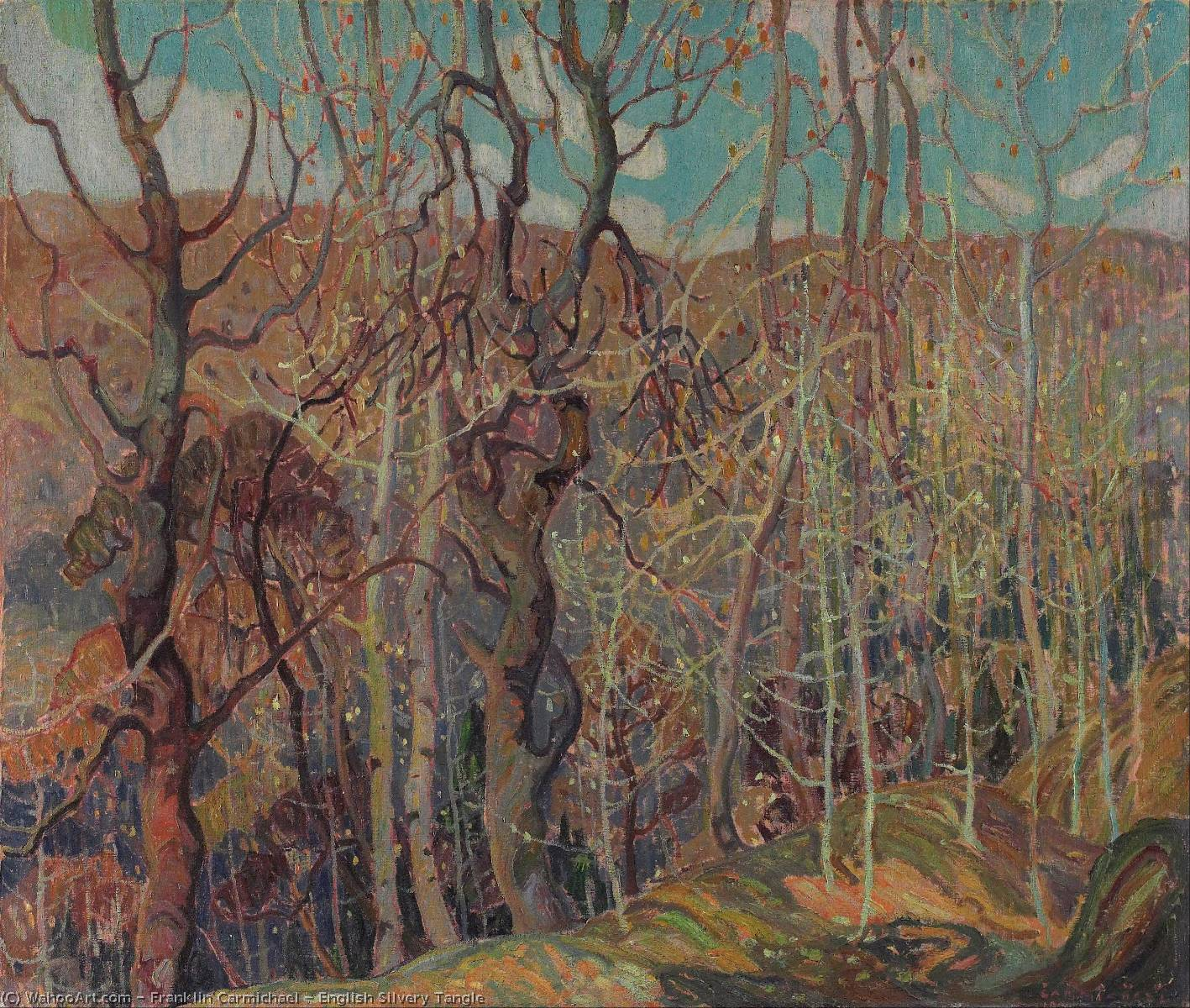 Wikioo.org - The Encyclopedia of Fine Arts - Painting, Artwork by Franklin Carmichael - English Silvery Tangle