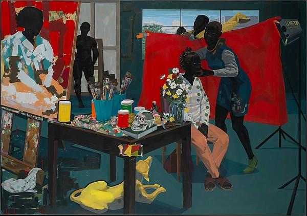 Wikioo.org - The Encyclopedia of Fine Arts - Painting, Artwork by Kerry James Marshall - Untitled (Studio)