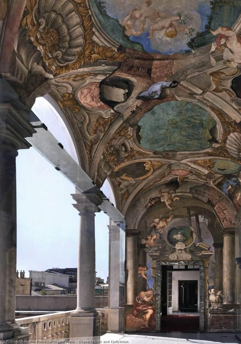 Wikioo.org - The Encyclopedia of Fine Arts - Painting, Artwork by Paolo Gerolamo Piola - Diana Selene and Endymion