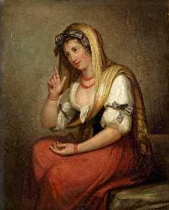 Portrait of Lady Emma Hamilton as Neapolitan Peasant