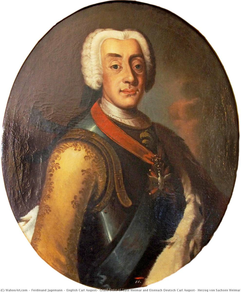 Wikioo.org - The Encyclopedia of Fine Arts - Painting, Artwork by Ferdinand Jagemann - English Carl August, Grand Duke of Saxe Weimar and Eisenach Deutsch Carl August, Herzog von Sachsen Weimar und Eisenach, in der Uniform der Ascherslebener Kürassiere