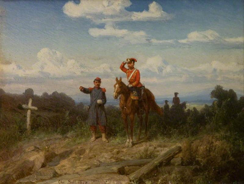 Wikioo.org - The Encyclopedia of Fine Arts - Painting, Artwork by Christian Sell - Scenes in the Franco Prussian War