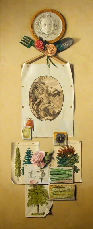 Wikioo.org - The Encyclopedia of Fine Arts - Painting, Artwork by Martin Battersby - Trompe l'oeil (Gardening)