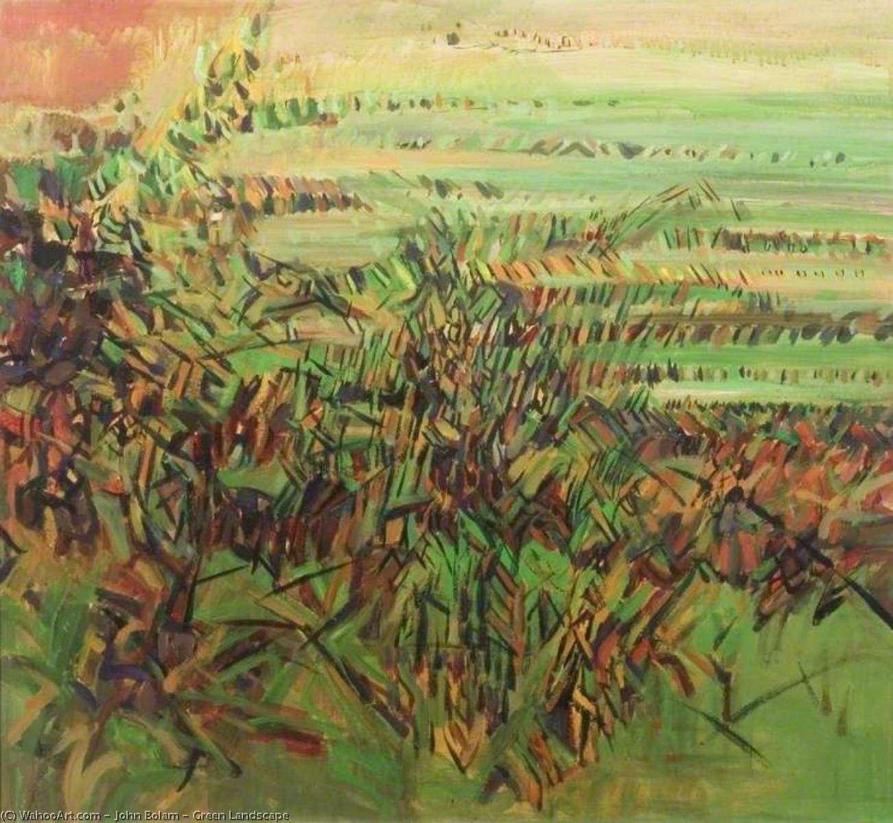 Wikioo.org - The Encyclopedia of Fine Arts - Painting, Artwork by John Bolam - Green Landscape