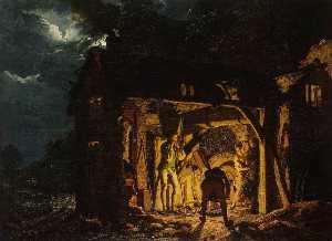 English Iron Forge Viewed from Outside