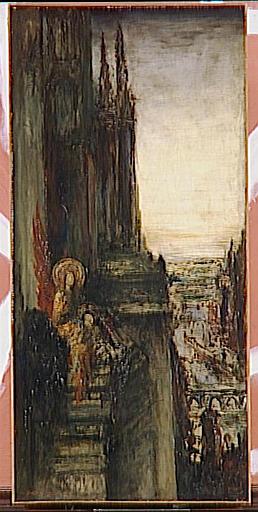 WikiOO.org - Enciclopedia of Fine Arts - Pictura, lucrări de artă Gustave Moreau - Les Anges voyageurs ou Les voyageurs