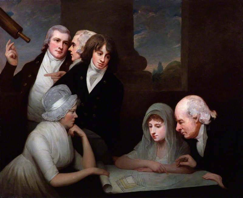 Wikioo.org - The Encyclopedia of Fine Arts - Painting, Artwork by George Romney - Adam Walker and his family