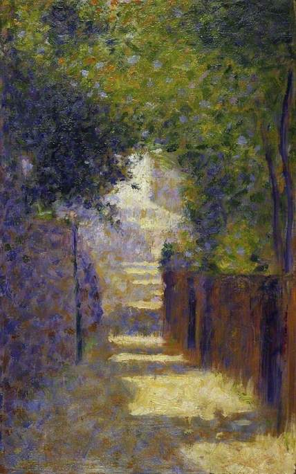 Wikioo.org - The Encyclopedia of Fine Arts - Painting, Artwork by Georges Pierre Seurat - The Rue St Vincent, Paris in Spring