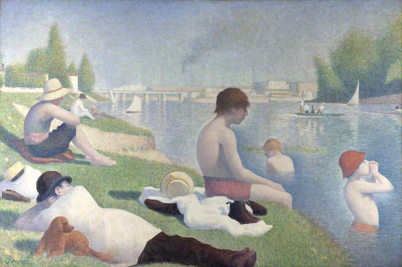 Wikioo.org - The Encyclopedia of Fine Arts - Painting, Artwork by Georges Pierre Seurat - Bathers at Asnières