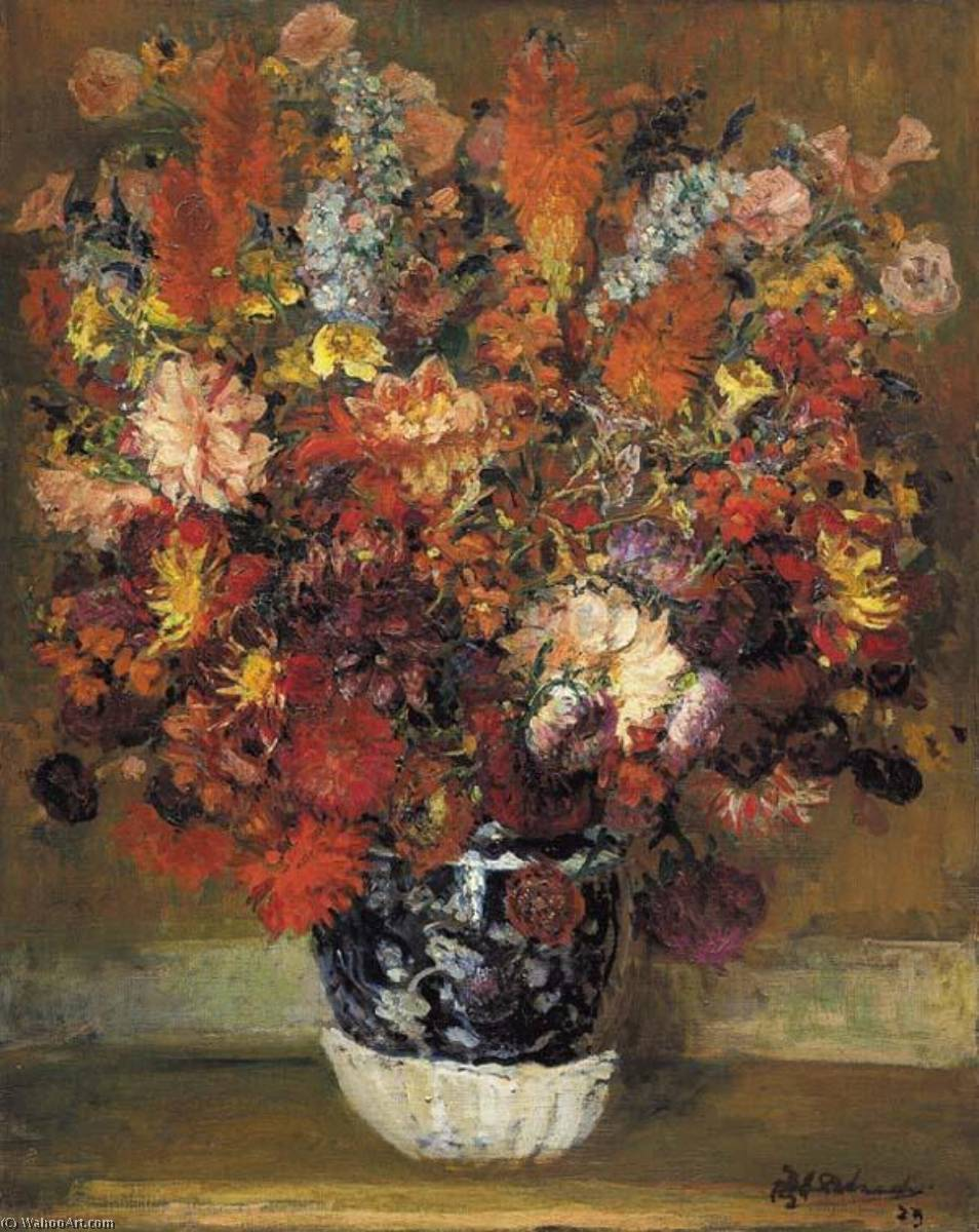 Wikioo.org - The Encyclopedia of Fine Arts - Painting, Artwork by Jacques-Emile Blanche - Flowers in a Pot